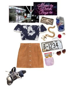 """""""queen of the gas station"""" by psychedlia ❤ liked on Polyvore featuring Chanel, GAS Jeans, Emilio Pucci, Fred, Converse and lanadelrey"""
