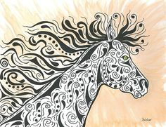 Title  In The Wind   Artist  Susie WEBER   Medium  Painting - Acrylic And Art Markers