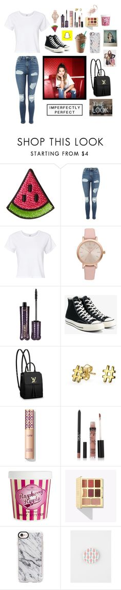 """""""#Ordinary Girl•Annie LeBlanc•"""" by lit-roses ❤ liked on Polyvore featuring Kipling, Topshop, RE/DONE, Vivani, tarte, Converse, Louis Vuitton, Bling Jewelry, ASOS and Casetify"""