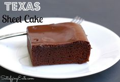 Texas Sheet Cake. Moist, delicious, grain-free and flour-less! www.satisfyingeats.com