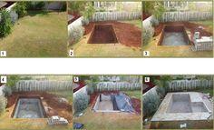 Betonpool im Garten - Wie wird er gemacht