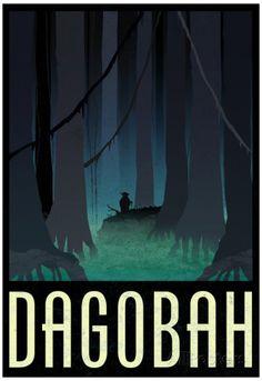 Dagobah Fantasy Travel Poster Affiche