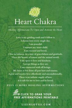 Anahata: Heart Chakra Healing Affirmations Download   Liz in Lotus