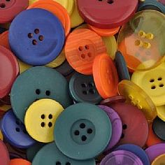 Bright Button Mix | Plastic Buttons Perfect for kids crafts