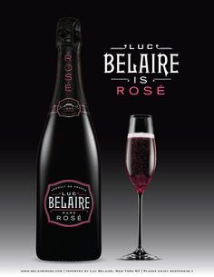 I love pink champagnes, but this rosé is MY FAV FAV! Belaire Rare Rose (Luc Belaire) :-))))