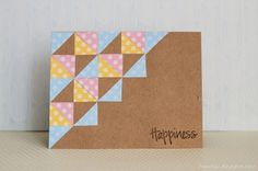 Cards by Fran - Happiness #card #scrapbook