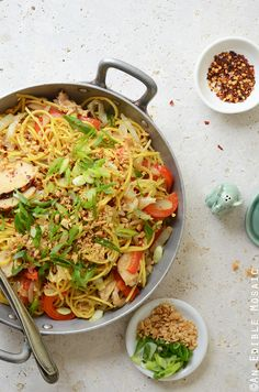 Thai-Inspired Soy Sauce Noodles with Vegetables and Chicken Recipe