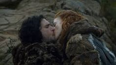 GOT-Jon and Ygritte.