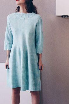 """Платья ручной работы. Заказать Валяное платье """"Минималистично мятное"""". Лена Баймут. Ярмарка Мастеров. Валяное платье, светло зеленый"""