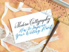 Modern Calligraphy: 5 Tips to Improve Your Writing Slant – The Postman's Knock Calligraphy Lessons, Calligraphy Worksheet, Calligraphy For Beginners, Calligraphy Tutorial, How To Write Calligraphy, Calligraphy Handwriting, Lettering Tutorial, Calligraphy Letters, Modern Calligraphy