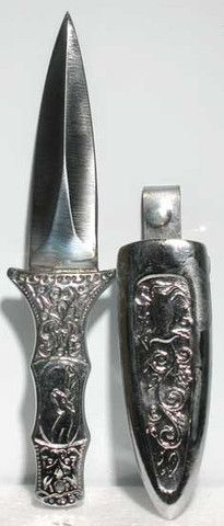 Athame: Boot Silver Coated (RATHB) - Witchcraft supplies and Wiccan tools. The original Swords And Daggers, Knives And Swords, Boot Knife, Silver Boots, Witchcraft Supplies, After Life, Metal Belt, Floral Patterns, Blade