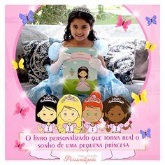 """E se a personagem principal de um livro for a sua #filha? Ou que tal sua #sobrinha, #neta ou #afilhada? <3 Em homenagem ao #diadolivro, a Meu Mundo Personalizado apresenta o #livro #infantil #personalizado """"Eu Sou uma Princesa por um Dia"""". Nele, você pode fazer a customização do desenho da personagem, conforme as características da sua pequena princesa! Quer saber como funciona a #personalização da personagem principal? Acesse: http://bit.ly/2g3pVnF #lovemeumundopersonalizado"""
