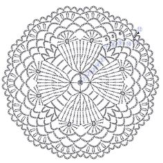 The scheme of knitting Christmas potholders - crochet snowflakes Crochet Mandala Pattern, Crochet Circles, Crochet Motifs, Crochet Diagram, Crochet Stitches Patterns, Crochet Round, Doily Patterns, Crochet Chart, Thread Crochet