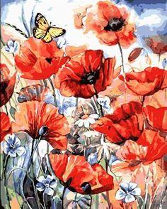 Mantequilla Y Flor DIY Lienzo Pintura Al Óleo Sin Marco Fotos Pintar Por Números Decoración Del Hogar Para la Sala GX7073 40*50 cm