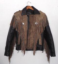 Vintage Men's Unik Leather Motorcycle Jacket by alicksandraflin