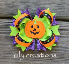 Free ShippingHalloween Hair bow Halloween Headband by mLyCreations