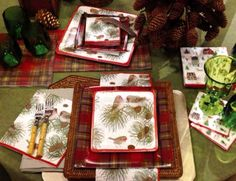Woodland Birds by Karen Fjord Kjaersgaard christmas paper plates and napkins