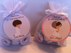 First Communion Favor Bag Set. $35.00, via Etsy.