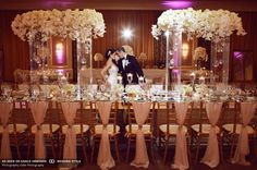 Vachi Design's timeless elegant white and gold wedding at the Four Seasons San Francisco Hotel captured by Duke Photography