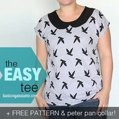 Tutorial: Easy Tee with a Peter Pan collar