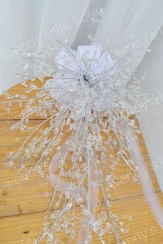 wedding bouquet artificial crystal bouquet long by Wendyslife