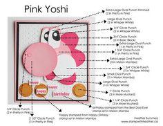 Punch Art Yoshi Instructions #card #nintendo