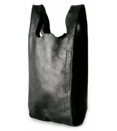 """CAST OF VICES, LEATHER SHOPPER: i think the front sides of these might be too """"ha-ha"""" with """"chinatown"""" style thank you's and smiley faces embossed, but if it's significantly cheaper than the margiela... #cast_of_vices #leather #bag @Alison Brookbanks"""
