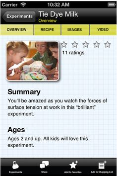 Kid Science Premium app -- Tons of experiments for kids of all ages you can make right in your own kitchen!