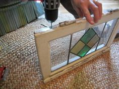 How to display antique stained glass windows.