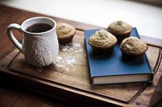 .A cup of coffee. Muffins. A good book. What's not to love???