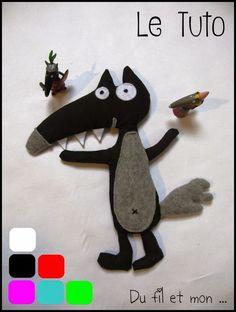 Patron gratuit et tuto en français: Du fil et mon...: Le loup qui voulait changer de couleur: