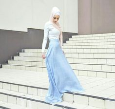 Grid Print Puddle Skirt | @hijabhouse Fashion Wear, Modest Fashion, Hijab Fashion, Girl Fashion, Muslim Girls, Muslim Women, Hijab Collection, Eid Outfits, Muslim Wedding Dresses