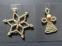 Perlenengel und Perlenstern, von mir angefertigt. ramona.und.sterne@gmail.com