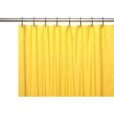 Carnation Home Hotel Collection, 8 Gauge Vinyl Shower Curtain Liner w/ Metal Grommets in Canary Yellow Hotel Shower Curtain, Vinyl Shower Curtains, Shower Curtain Hooks, Bathroom Ensembles, Shower Liner, Bathroom Accessories, House Styles, Home