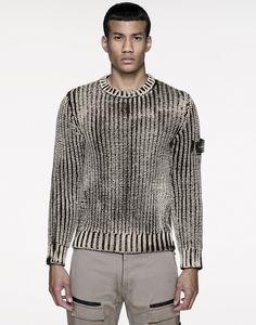 Pullover mit Rundkragen 541A1 HAND CORROSION STONE ISLAND - 0