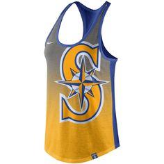 03dee012b MLB Seattle Mariners Nike Women s Tri-Fade Tank Top - Yellow Seattle  Washington