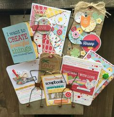 Card Display by Kristine Davidson featuring Jillibean Soup Mix the Media Receipt Holder