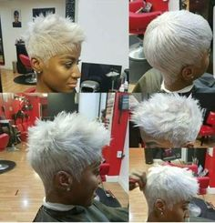 New Nails Grey Short Pixie Hairstyles Ideas Short Grey Hair, Short Blonde, Short Hair Cuts, Pixie Cuts, Pixie Hairstyles, Trendy Hairstyles, Black Hairstyles, Hairdos, Curly Hair Styles
