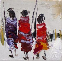 Les Massais 4 par annemarietollet sur Etsy, $75.00