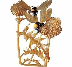 Renee Lalique art nouveau thistle? and bee brooch
