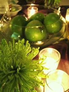 green apple centerpiece