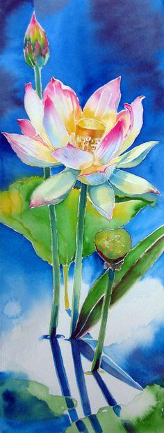 [lotussm.by Melanie Rich watercolor Visit her blog - RedHead Art