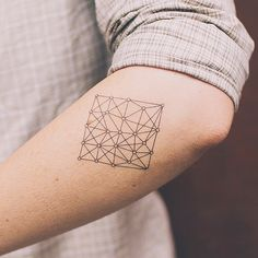geometric temp tattoo tatt.ly