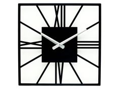 SQUARE Horloge murale-OR miroir