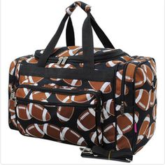 "Football Sport Print 20"" Travel Duffle Bag"