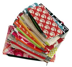 Zippered Pouches. Lo