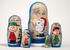Charlie Brown Christmas Nesting Doll 5pc./5 $44.00  Ships from and sold by Golden Cockerel. Officially Licensed Peanuts Nesting Doll All Pieces Nest Together Hand painted in Russia Making Authentic Russian Nesting Dolls Since 1993 100% Satisfaction Guaranteed