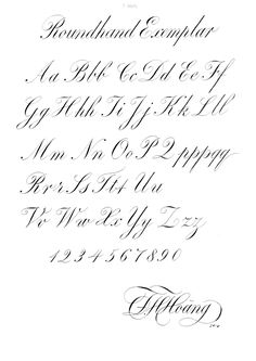 Calligraphy note and study Calligraphy Letters Alphabet, Calligraphy Fonts Alphabet, Calligraphy Types, Calligraphy Artist, Penmanship, Handwriting Fonts, English Calligraphy Font, Font Alphabet, Islamic Calligraphy