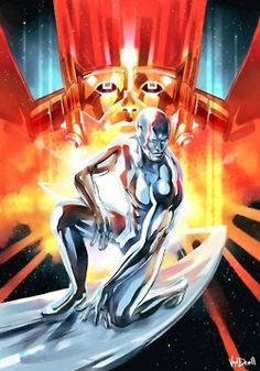 Silver Surfer and Galactus' Shadow