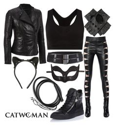 """Urban Catwoman"" by aubrielleoutfits ❤ liked on Polyvore featuring Andrew Marc, Rogues Gallery, Fleet Ilya, Yves Saint Laurent, Masquerade, Giuseppe Zanotti and Smartwool"